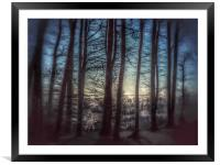 Misty Winters  Forest , Framed Mounted Print