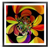 Flower power, Framed Mounted Print