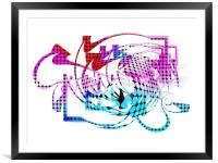 Unraveled. The Past and the Future., Framed Mounted Print