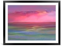 Sun rise at Hayle's magical beach, Framed Mounted Print