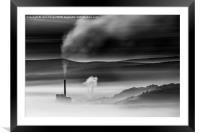 Hope cement works, Peak District England. , Framed Mounted Print