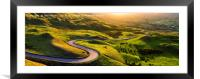 Edale valley in Derbyshire, Peak District, England, Framed Mounted Print