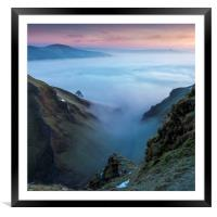 February dawn Winnats Pass , Framed Mounted Print