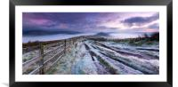 The Great frosty Ridge. , Framed Mounted Print