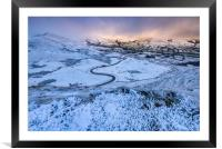 Winter is coming, Framed Mounted Print