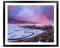 Snowbow over Edale valley, Framed Mounted Print