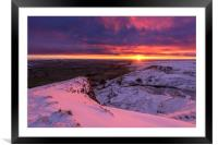 Peak District Winter sunrise, Framed Mounted Print