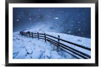 Blizzard in the High Peak, Framed Mounted Print