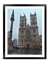 Westminster Abbey in London, Framed Mounted Print