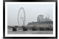 View of London during a snowy day, Framed Mounted Print