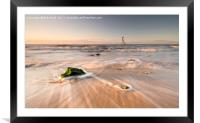 Walton on the Naze Sunrise Flow., Framed Mounted Print