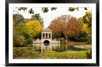 Birkenhead Park Boathouse , Framed Mounted Print