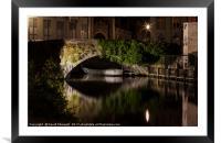 Bruges Canals, Framed Mounted Print