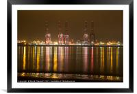 Liverpool 2 Container Terminal , Framed Mounted Print