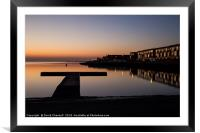 West Kirby Sunset Reflection   , Framed Mounted Print