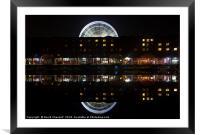 Albert Dock and Liverpool Big Wheel, Framed Mounted Print