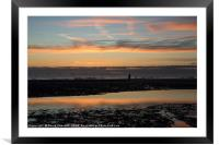 Anthony Gormley's Another Place, Framed Mounted Print