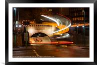 Mersey Tunnel Light Trails, Framed Mounted Print