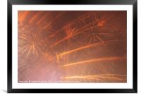 Fireworks Display in London 2017, Framed Mounted Print