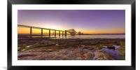 Sunset over the Forth Bridge, Framed Mounted Print