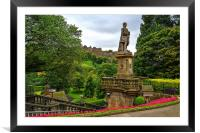 The Castle from Princes Street Gardens, Framed Mounted Print