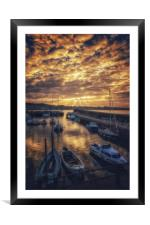 God Rays over North Berwick, Framed Mounted Print