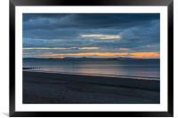 Last light over Portobello beach, Edinburgh, Framed Mounted Print