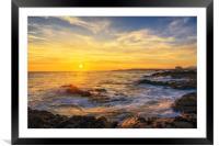 Elie beach at sunset, Framed Mounted Print