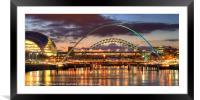 Tyne Bridges, Framed Mounted Print