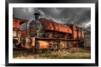 HDR Old Steam Train, Framed Mounted Print