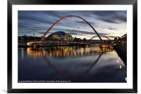 Millennium Bridge, Framed Mounted Print