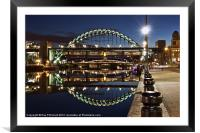 Tyne Bridge At Newcastle, Framed Mounted Print