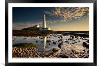 St Marys Lighthouse, Framed Mounted Print