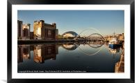 River Tyne Reflected, Framed Mounted Print