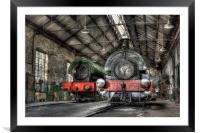 Steam Trains, Framed Mounted Print
