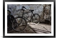 Vintage Bicycle at Tanfield, Framed Mounted Print