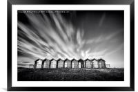 Blyth Beach Huts, Framed Mounted Print