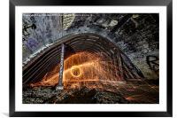 Sparks Underground, Framed Mounted Print