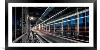 Light Trails across the High Level Bridge, Framed Mounted Print