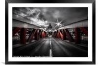 Swing Bridge, Framed Mounted Print