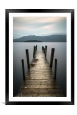 Hawes End Jetty, Framed Mounted Print