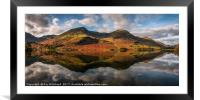 Buttermere Reflected, Framed Mounted Print