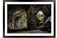 Cathedral Cavern , Framed Mounted Print