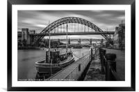 Boat on the River Tyne, Framed Mounted Print