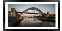 Tyne Bridge , Framed Mounted Print