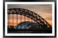 Tyne Bridge Sunrise, Framed Mounted Print