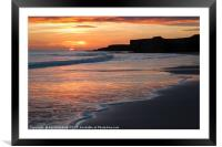 Sandhaven beach, Framed Mounted Print