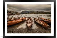 Derwent Water Boats, Framed Mounted Print