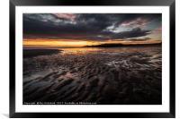 sunrise over South Shields Beach, Framed Mounted Print
