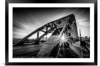 Sun and the Tyne Bridge, Framed Mounted Print